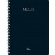 Imagem - Caderno Espiral Capa Plástica 1/4 Neon 96 Folhas - Sortido (Pacote com 5 unidades)