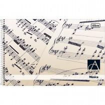 Imagem - Caderno de Música Espiral Capa Dura 1/4 Académie 96 Folhas - Sortido