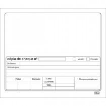 Copias De Cheque Branco - 100 Folhas