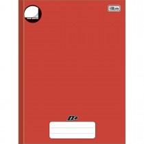 Imagem - Caderno Brochura Capa Dura Universitário Sem Pauta D+ Vermelho 96 Folhas
