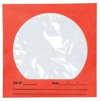 Imagem - Envelope para CD/DVD Vermelho 125x125mm - Caixa com 100 Unidades