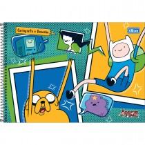 Imagem - Caderno Espiral Capa Dura Cartografia e Desenho Adventure Time 96 Folhas - Sortido (Pacote com 4 unidades)...