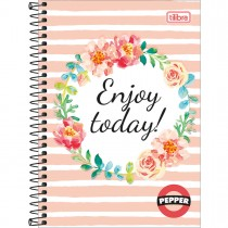 Imagem - Caderno Espiral Capa Dura 1/4 Pepper 80 Folhas - Sortido (Pacote com 4 unidades)