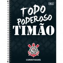Imagem - Caderno Espiral Capa Dura Universitário 10 Matérias Clube de Futebol Corinthians 160 Folhas - Sortido (Pacote com 4 unidades)...
