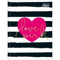 Imagem - Caderneta Costurada Capa Dura Love Pink 80 Folhas - Sortido (Pacote com 5 unidades)