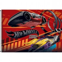 Imagem - Caderno Espiral Capa Dura Cartografia e Desenho Milimetrado Hot Wheels 96 Folhas - Sortido (Pacote com 4 unidades)...
