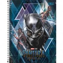 Caderno Espiral Capa Dura Universitário 10 Matérias Pantera Negra 160 Folhas - Sortido (Pacote com 4 unidades)