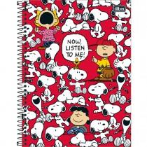 Imagem - Caderno Espiral Capa Dura Universitário 16 Matérias Snoopy 320 Folhas - Sortido (Pacote com 2 unidades)...