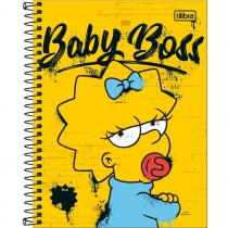 Imagem - Caderno Espiral Capa Dura Colegial 10 Matérias Simpsons 160 Folhas - Sortido