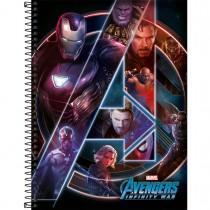 Imagem - Caderno Espiral Capa Dura Universitário 16 Matérias Avengers Infinity War 256 Folhas - Sortido (Pacote com 2 unidades)...