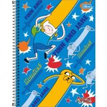 Imagem - Caderno Espiral Capa Dura Universitário 1 Matéria Adventure Time 96 Folhas - Sortido (Pacote com 4 unidades)...