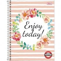 Imagem - Caderno Espiral Capa Dura Universitário 12 Matérias Pepper Feminino 192 Folhas - Sortido (Pacote com 4 unidades)...