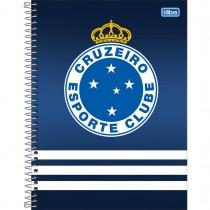 Imagem - Caderno Espiral Capa Dura Universitário 1 Matéria Clube de Futebol Cruzeiro 80 Folhas - Sortido (Pacote com 4 unidades)...