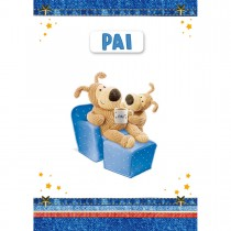 Imagem - Cartão Handmade Beauty Pais Estampa Urso Pai e filho - Grafon's