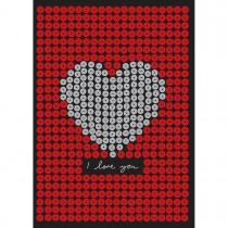 Imagem - Cartão Handmade Beauty Amor Estampa Coração Prateado- Grafon's
