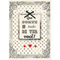 Imagem - Cartão Handmade Beauty Amor Estampa Moldura da Sorte- Grafon's