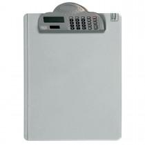 Prancheta em Acrílico com Calculadora e Prendedor de Plástico