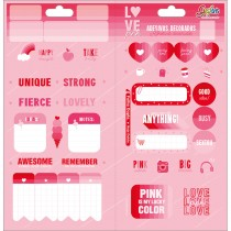 Imagem - Adesivo Decorado Duplo Love Pink