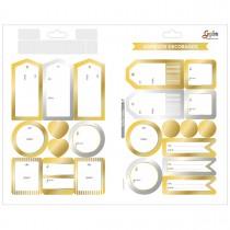 Imagem - Adesivo Decorado Duplo Metalizado Presente De/Para Grafon's