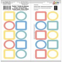 Imagem - Adesivos Organizadores Mistos Borda Colorida Grafons