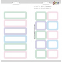 Imagem - Adesivos Organizadores Retangulares Coloridos Grafons