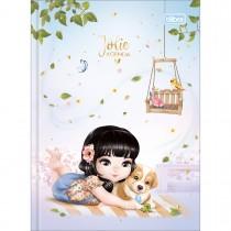 Imagem - Agenda Costurada 2 Dias por Página 12,3 x 16,6 cm Jolie Permanente - Jolie Asiática + Cachorro - Sortido...