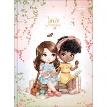 Imagem - Agenda Costurada 2 Dias por Página 12,3 x 16,6 cm Jolie Permanente - Jolie Morena e Negra + Borboletas - Sortido...