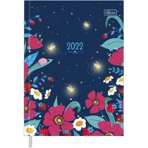 Imagem - Agenda Costurada Diária 12,3 x 16,6 cm Charme 2022 - Sortido