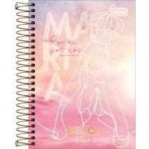 Imagem - Agenda Espiral Diária 12,9 x 18,7 cm Bíblica 2022 - Maria Fundo Rosa - Sortido