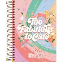 Imagem - Agenda Espiral Diária 12,9 x 18,7 cm Capricho 2022 - Too Fabulous To Care - Sortido