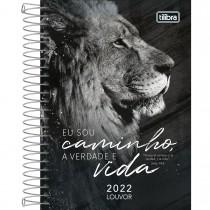 Imagem - Agenda Espiral Diária 12,9 x 18,7 cm Louvor 2022 - Leão - Sortido