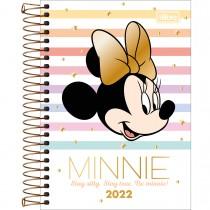 Imagem - Agenda Espiral Diária 12,9 x 18,7 cm Minnie 2022 - Minnie Rosto e Listras - Sortido