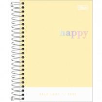 Imagem - Agenda Espiral Diária 14 x 20 cm Happy 2022 - Amarelo - Sortido