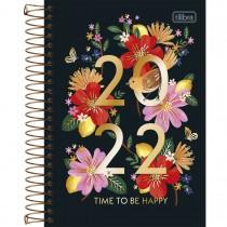 Imagem - Agenda Espiral Diária 14 x 20 cm Le Vanille 2022 - Time To Be Happy - Sortido