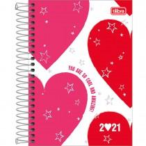 Imagem - Agenda Espiral Diária 14 x 20 cm Love Pink 2021 - Sortido