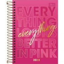 Imagem - Agenda Espiral Diária 14 x 20 cm Love Pink 2022 - Everything Looks Better In Pink - Sortido