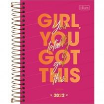 Imagem - Agenda Espiral Diária 14 x 20 cm Love Pink 2022 - Girl You Got This - Sortido