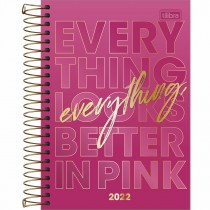 Imagem - Agenda Espiral Diária 14 x 20 cm Love Pink 2022 - Sortido