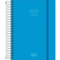 Imagem - Agenda Espiral Diária Capa Plástica Neon Azul 2020