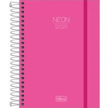 Imagem - Agenda Espiral Diária Capa Plástica Neon Rosa 2020