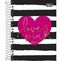 Imagem - Agenda Espiral Diária Love Pink 2019 - Sortido