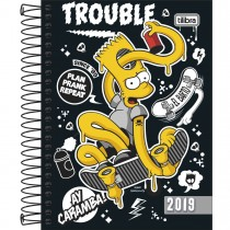 Imagem - Agenda Espiral Diária Simpsons 2019 - Sortido