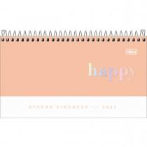Imagem - Agenda Espiral Semanal 16,7 x 8,9 cm Happy 2022 - Coral - Sortido