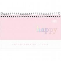 Imagem - Agenda Espiral Semanal 16,7 x 8,9 cm Happy 2022 - Sortido