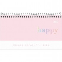 Imagem - Agenda Espiral Semanal 16,7 x 8,9 cm Happy 2022 - Rosa - Sortido