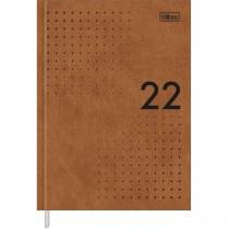 Imagem - Agenda Executiva Costurada Diária 12,3 x 16,6 cm Prátika Master 2022 - Caramelo