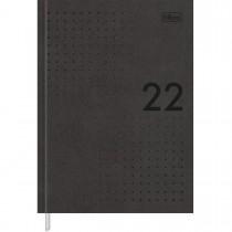 Imagem - Agenda Executiva Costurada Diária 12,3 x 16,6 cm Prátika Master 2022 - Preto