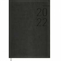 Imagem - Agenda Executiva Costurada Diária 14,5 x 20,5 cm Preta 2022 - Sortido