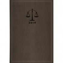Imagem - Agenda Executiva Costurada Diária de Mesa Advogado Marrom 2019