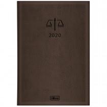 Agenda Executiva Costurada Diária de Mesa Advogado Marrom 2020